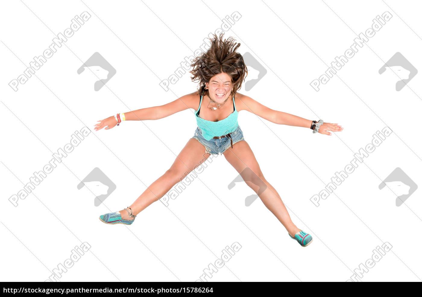 jumping, girl - 15786264