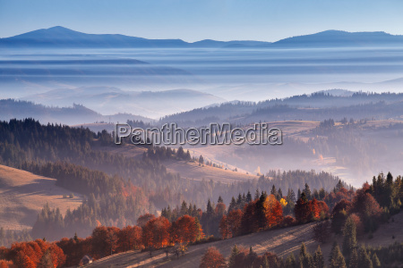 morning, mist, in, mountains., sunrise, and - 15786938