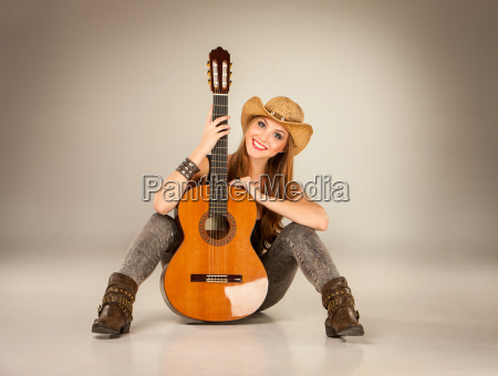 the, beautiful, girl, in, a, cowboy's - 15786220