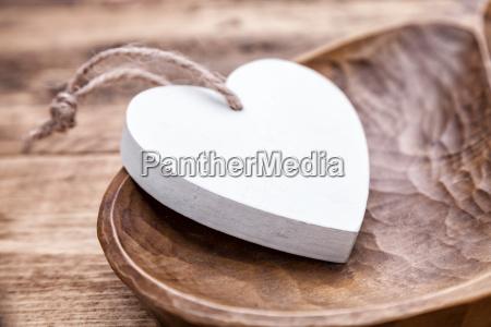 love concept white heart in
