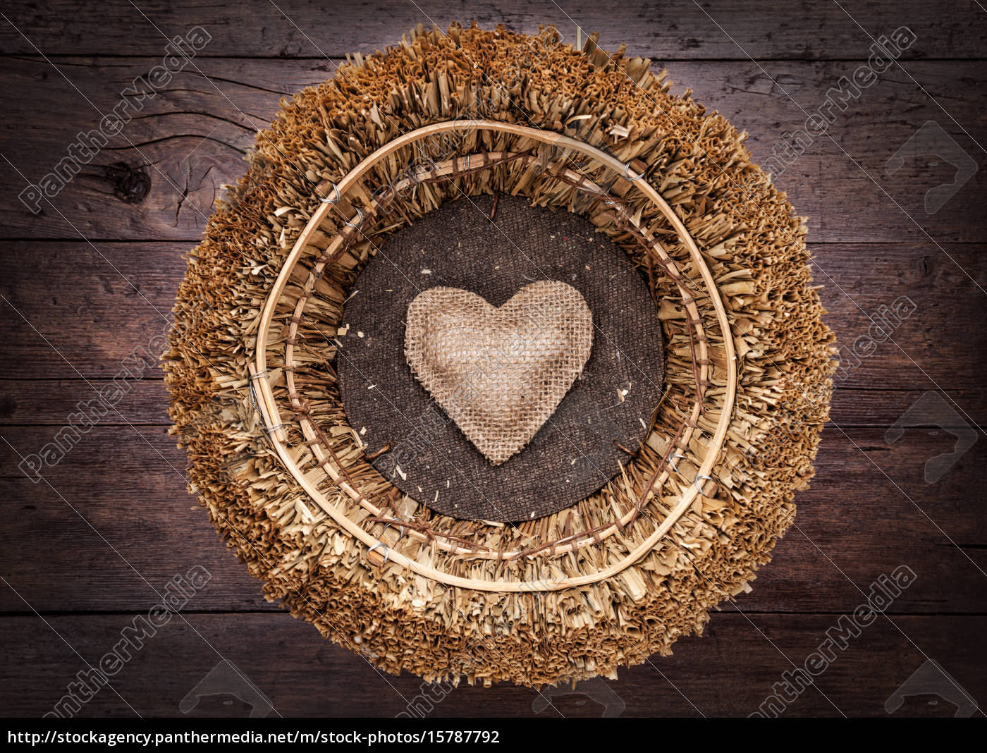 a, single, heart, inside, a, basket - 15787792