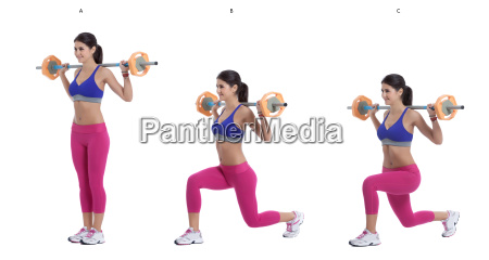 barbell, lunges - 15787614