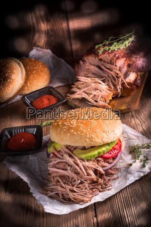 hamburger, pulled, pork - 15787572
