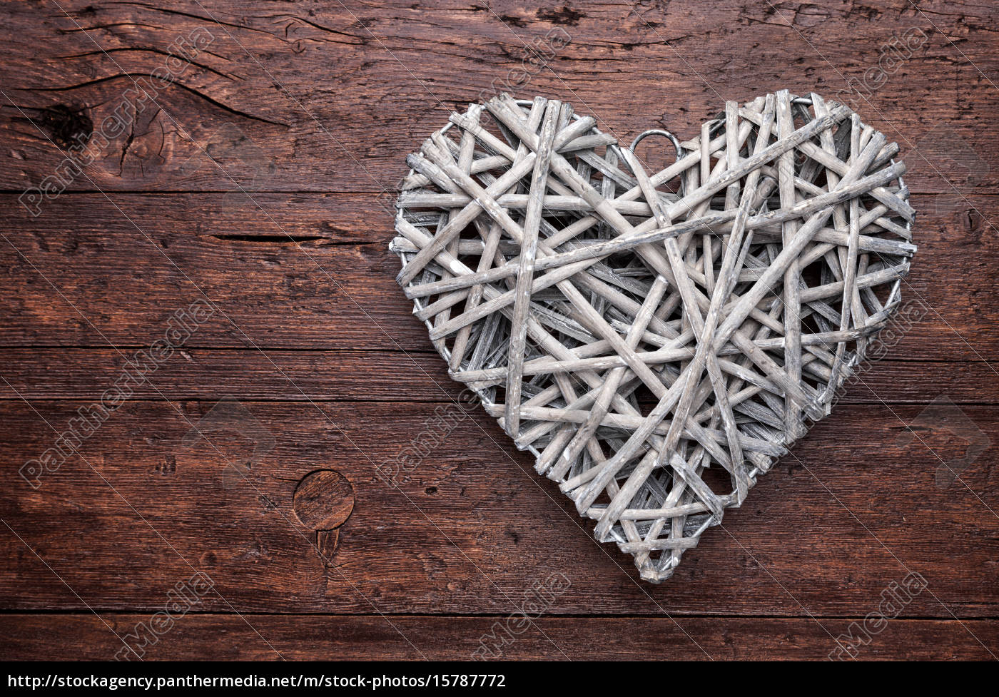 large, heart, on, a, wooden, background - 15787772