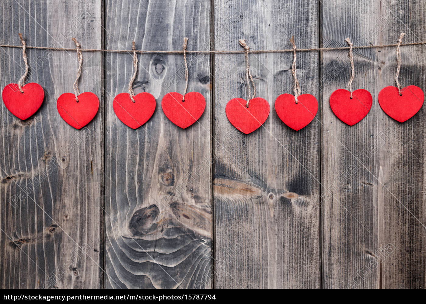 love, concept., hearts, hanging, on, a - 15787794