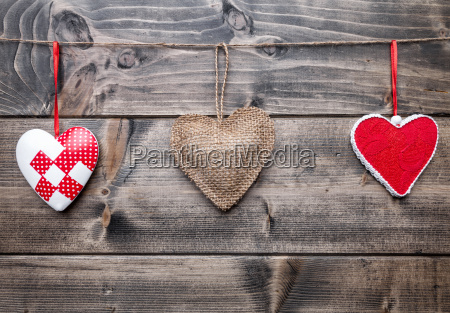 love, concept., hearts, hanging, on, a - 15787798
