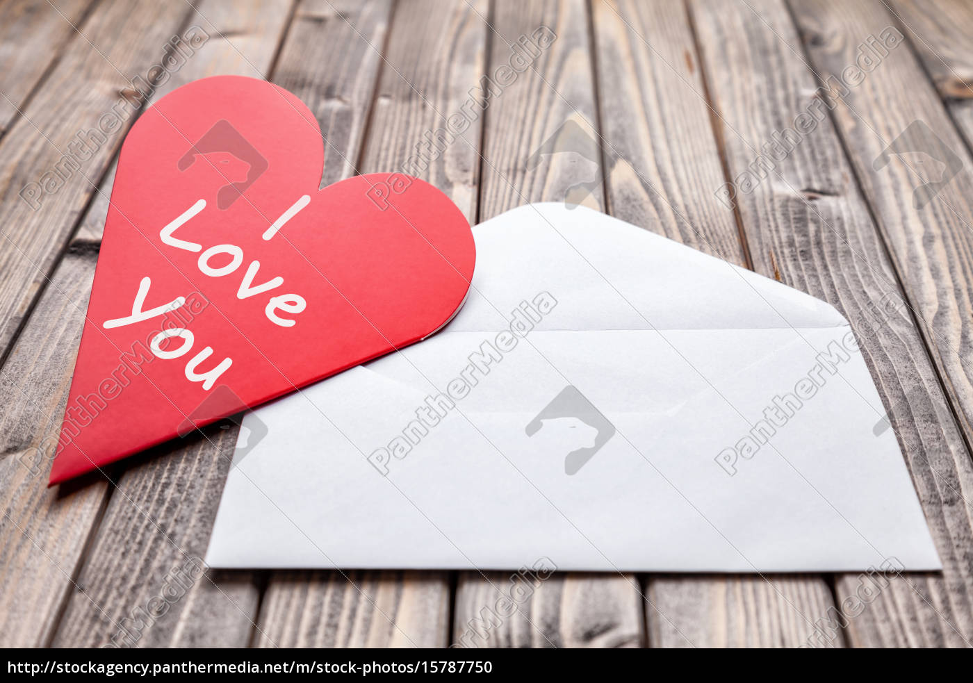love, letter, on, a, wooden, background - 15787750