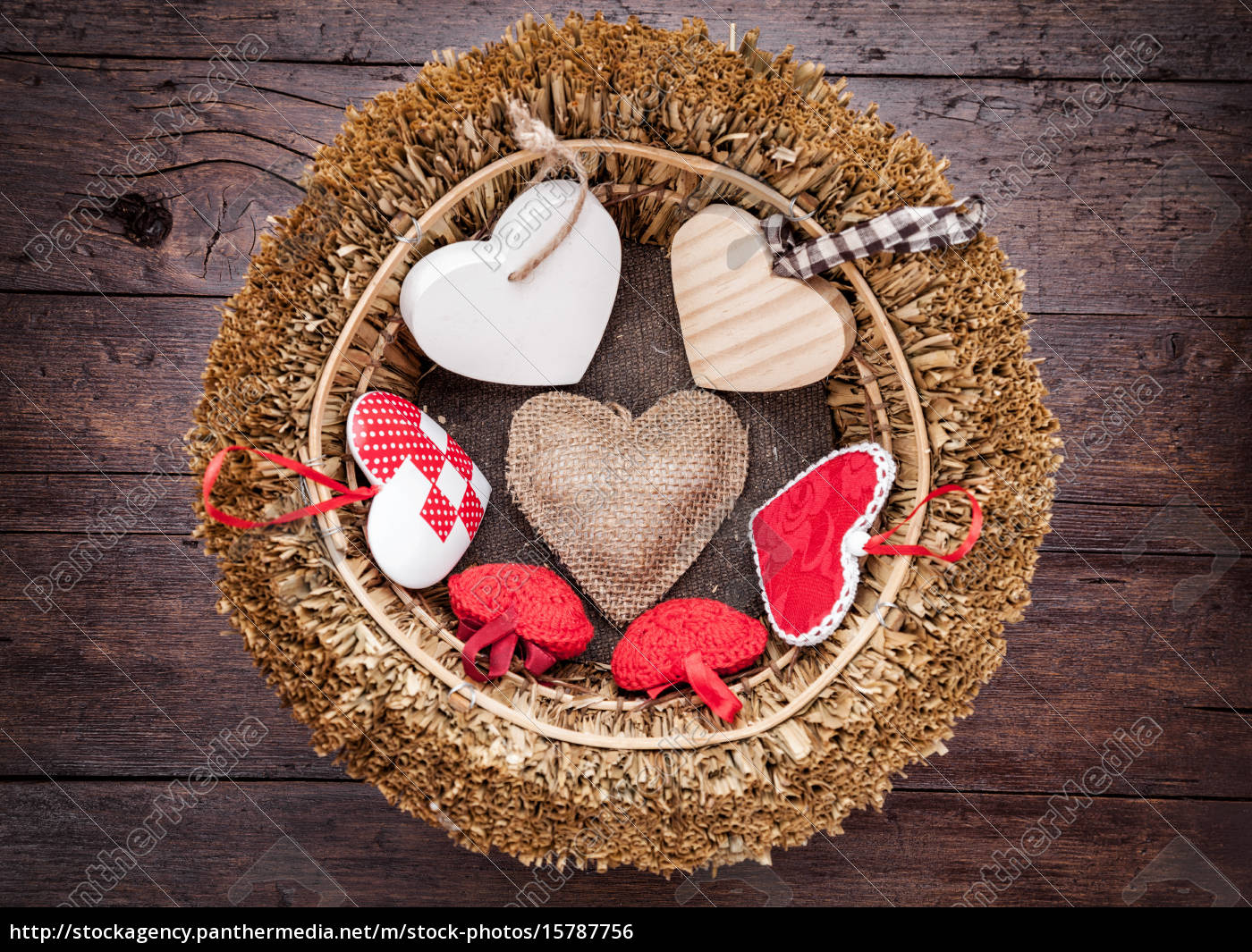 many, hearts, inside, a, wooden, basket - 15787756
