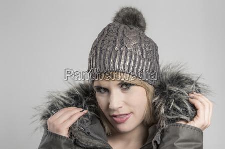 portrait, with, woolen, cap - 15787408