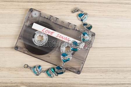 audio cassette tape and bracelet