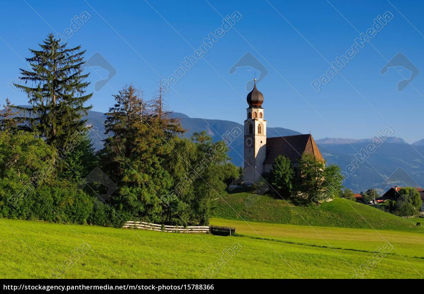 st., constantine, with, schlern, -, church - 15788366