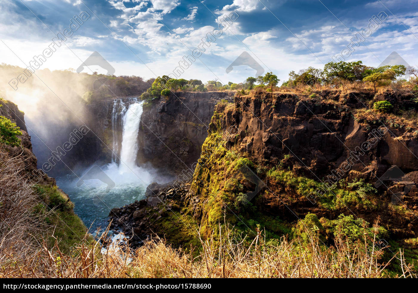 the, victoria, falls, with, dramatic, sky - 15788690