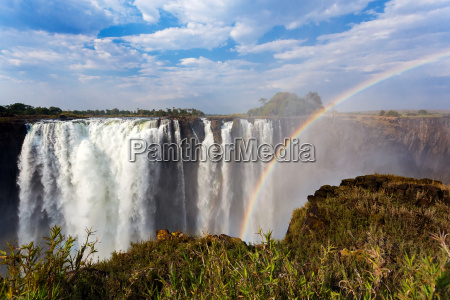 the, victoria, falls, with, rainbow - 15788684