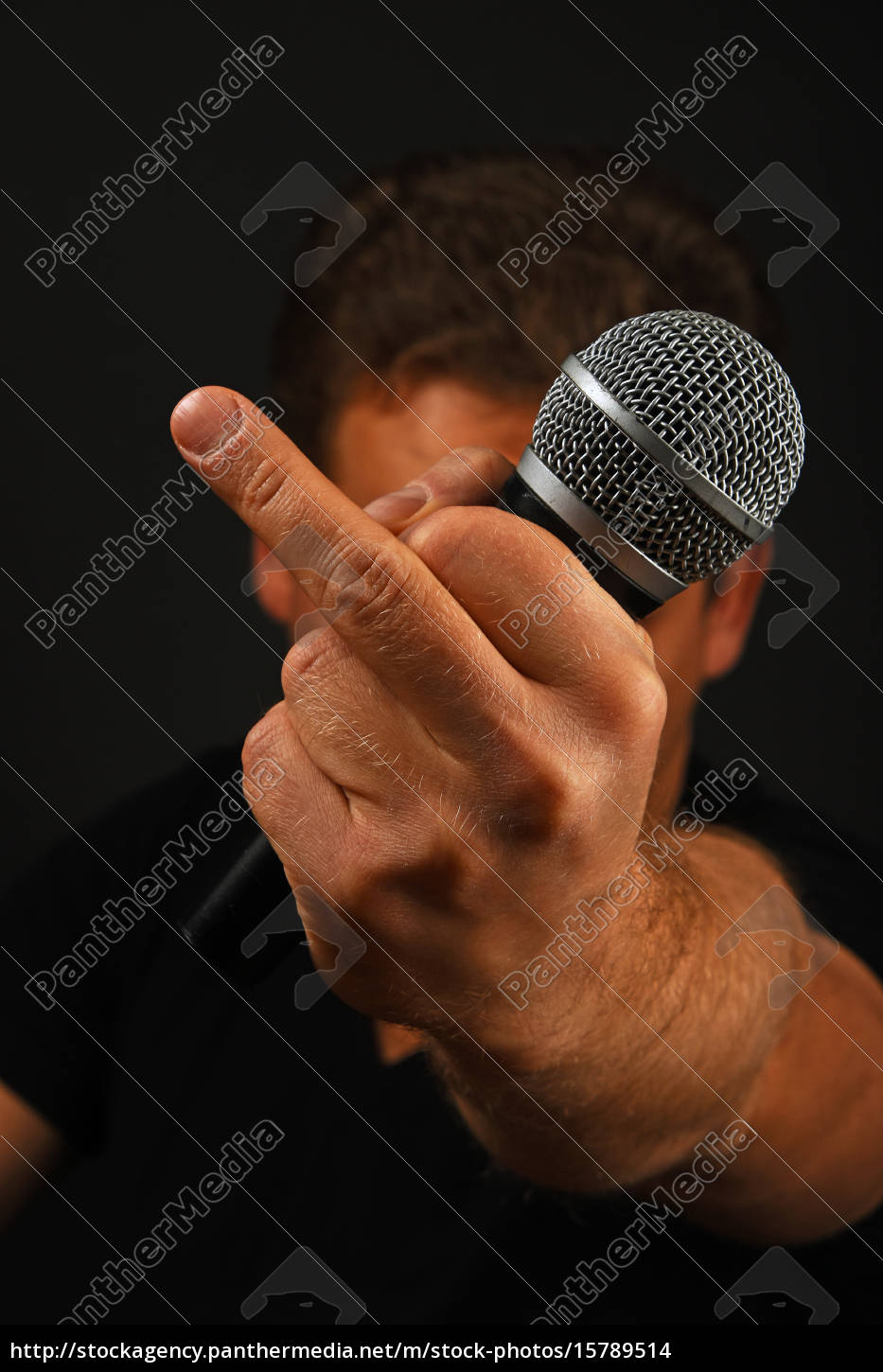hand, with, microphone, and, fuck, off - 15789514