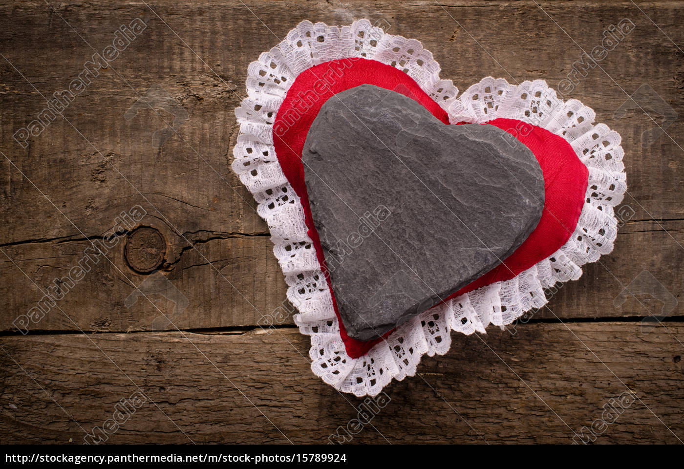 heart, shape, of, dark, slate - 15789924
