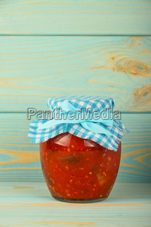 one, glass, jar, of, pickled, pepper - 15789508