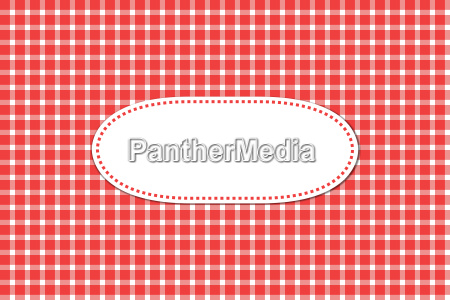 greeting card with tablecloths patterns red