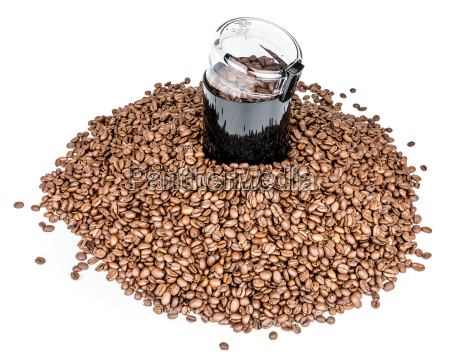 coffee, mill, and, pile, of, coffee - 15790296