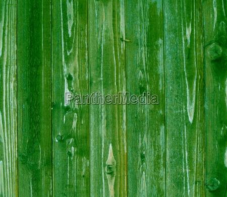 green wooden boards