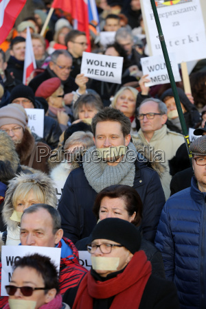 cracow the demonstration of the