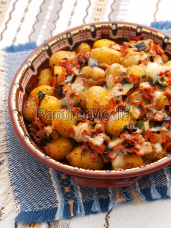 baked, potatoes, with, ham, and, cheese, baked - 15791491