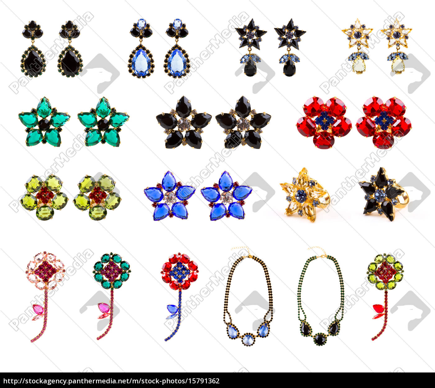 collection, of, crystal, jewelry, , earrings, , rings, - 15791362