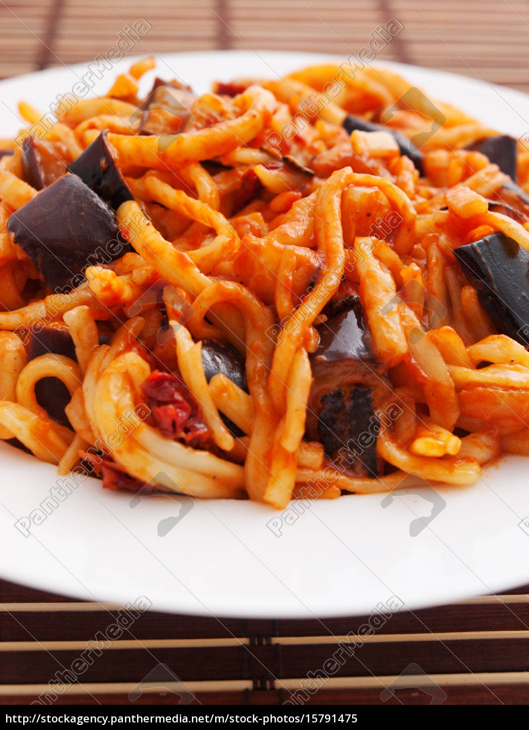 pasta, collection, -, linguine, with, eggplant - 15791475