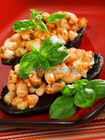 stuffed, mushrooms, with, beans, stuffed, mushrooms, with - 15791435