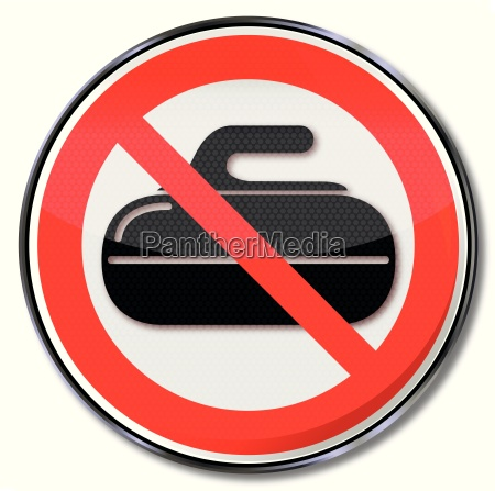 prohibition sign for curling and curling