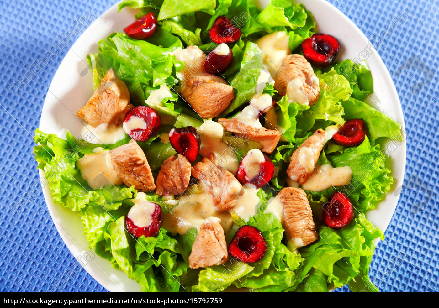 chicken, salad, with, cherries, chicken, salad, with - 15792759