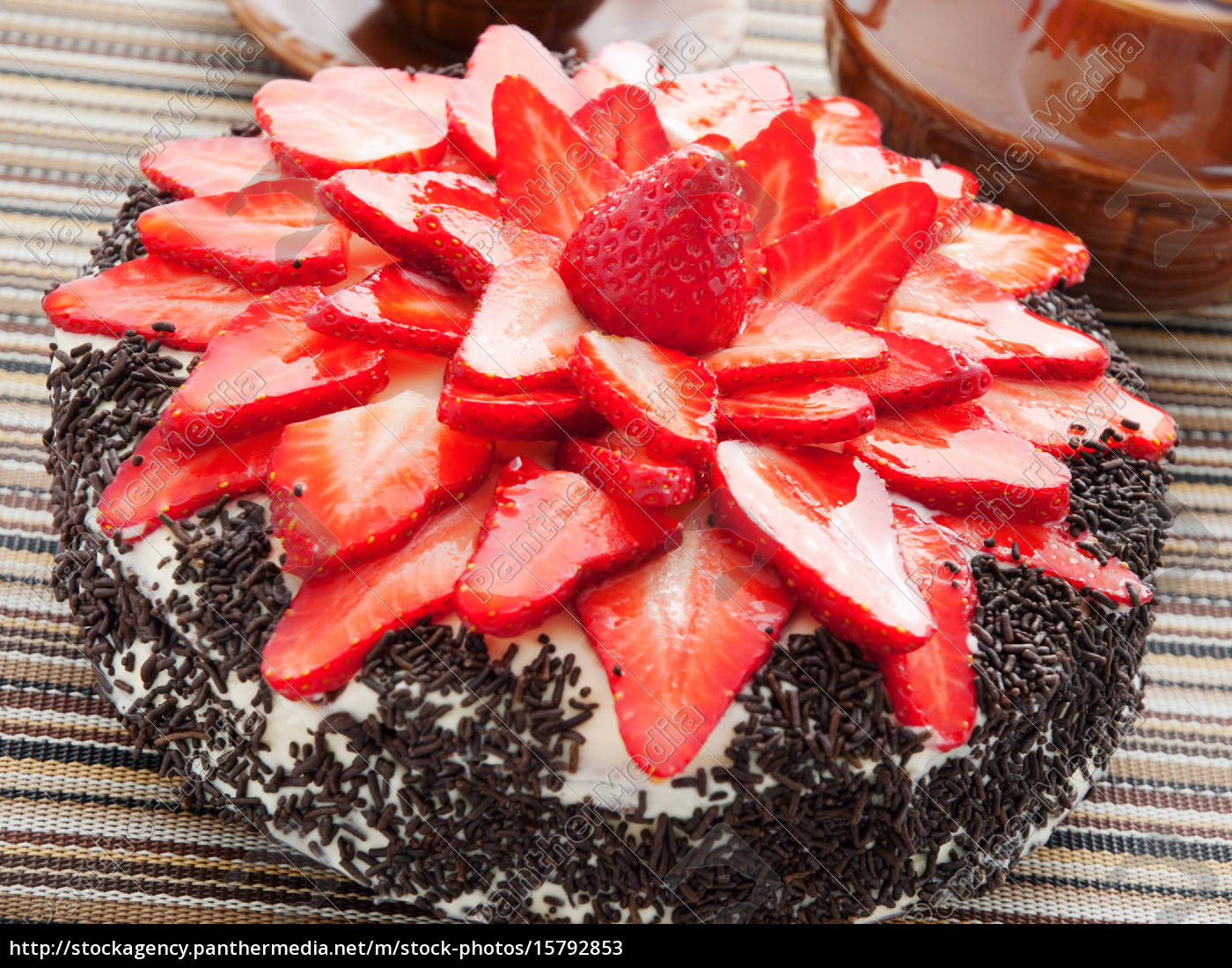 chocolate, cake, with, strawberries, chocolate, cake, with - 15792853