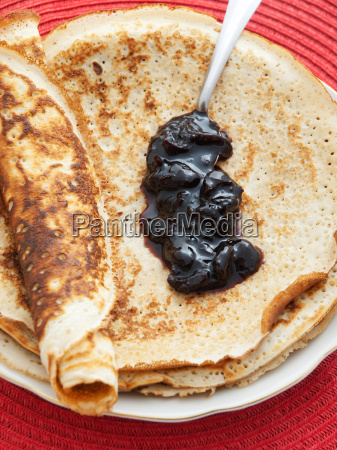pancakes, with, blueberry, jam, pancakes, with, blueberry - 15792935