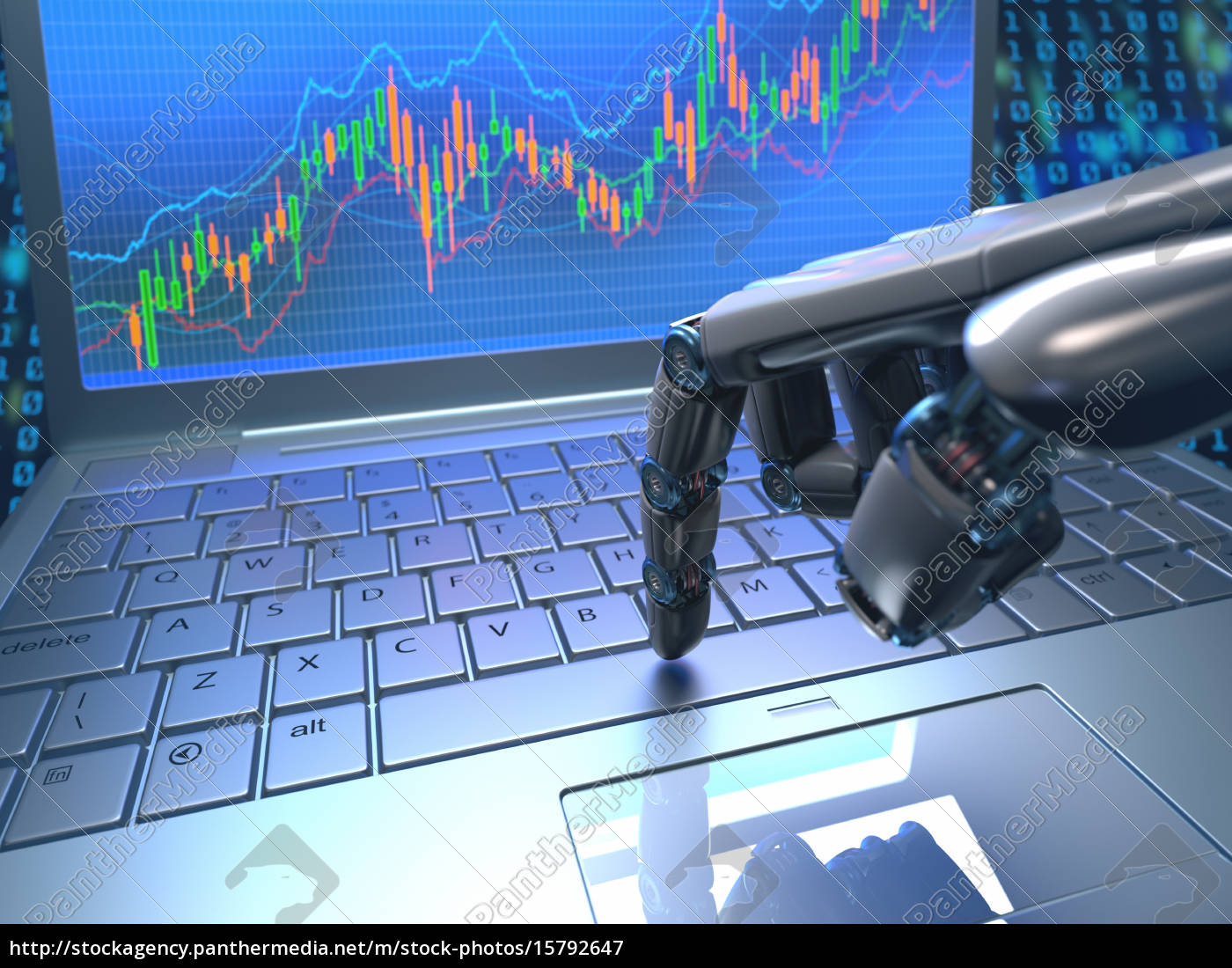 stock, market, robot, trading - 15792647