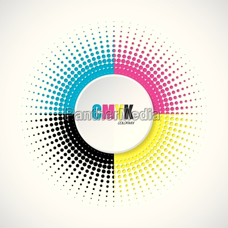 abstract, cmyk, halftone, background, with, 3d - 15794915
