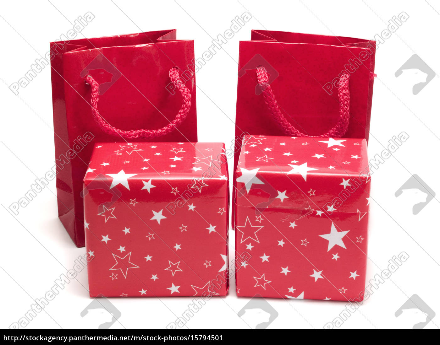 four, red, presents, on, white, four, red - 15794501