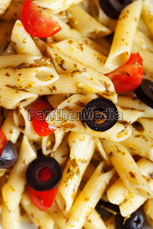 penne, with, cherry, tomatos, and, black - 15794687