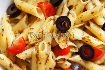 penne, with, cherry, tomatos, and, black - 15794691