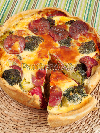quiche, with, broccoli, and, ham, quiche, with - 15794711
