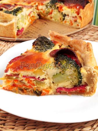 quiche, with, broccoli, and, ham, quiche, with - 15794713
