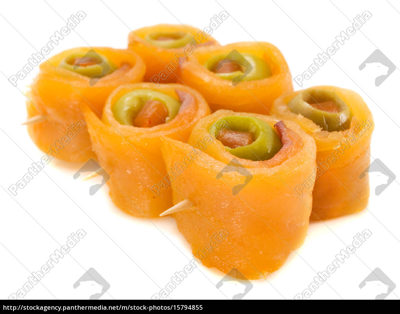 salmon, rolls, with, olive - 15794855