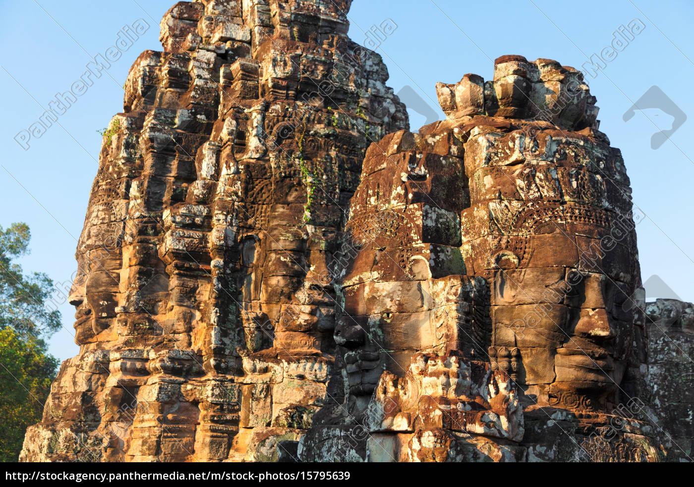 bayon, temple, in, angkor, wat, , cambodia, bayon - 15795639
