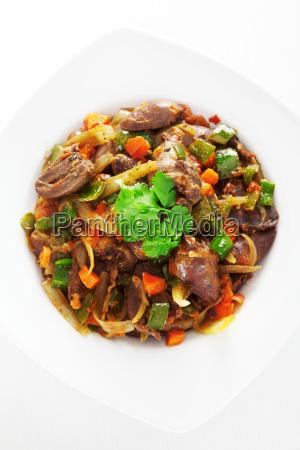duck, hearts, stew, vegetables, duck, hearts, stew - 15795863