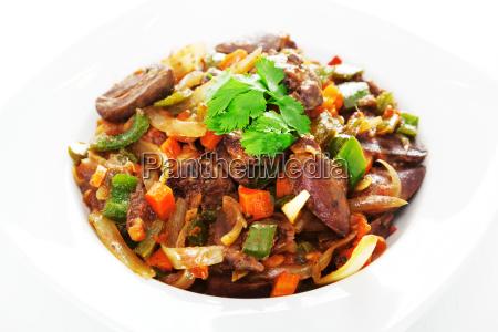 duck, hearts, stew, vegetables, duck, hearts, stew - 15795865