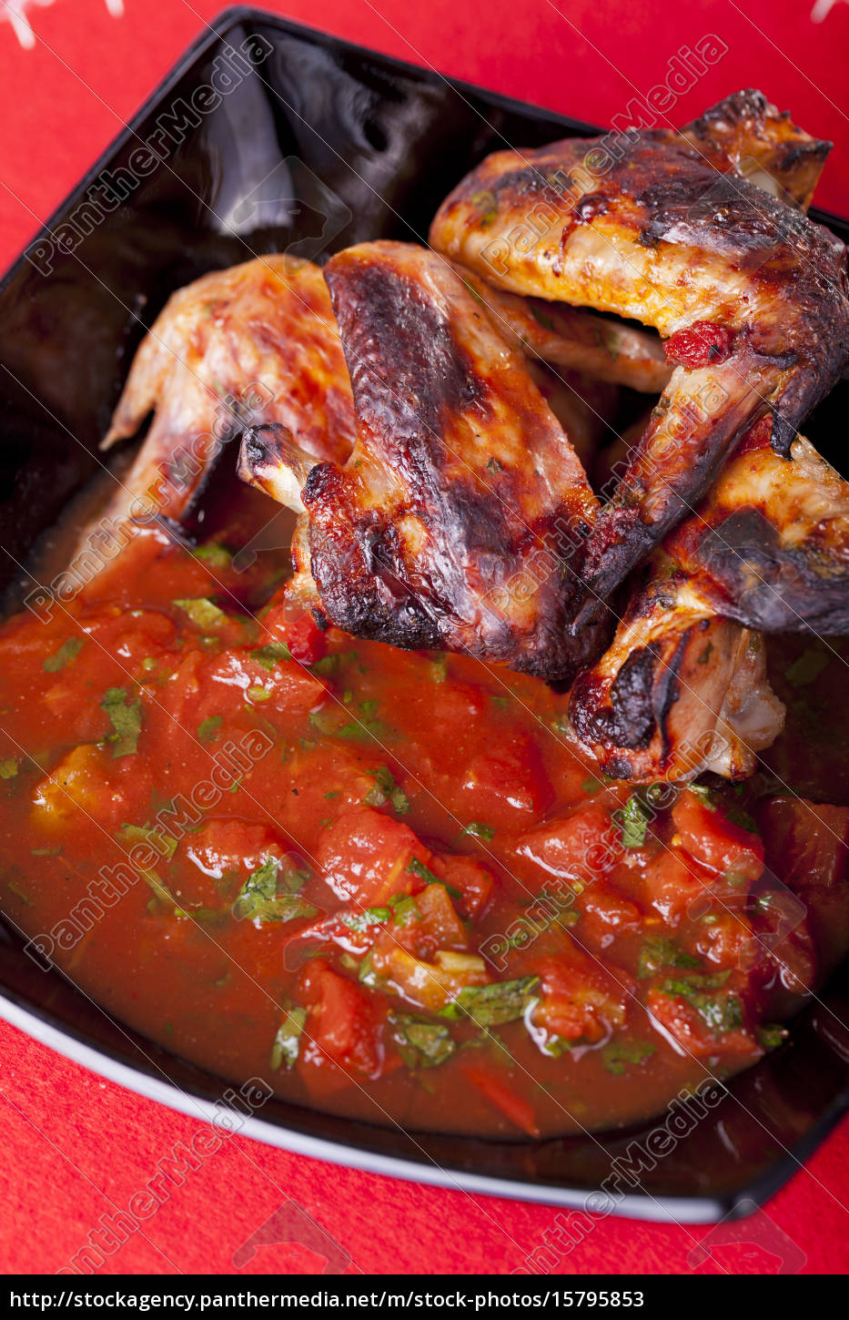 grilled, chicken, wings, with, salsa, grilled, chicken - 15795853