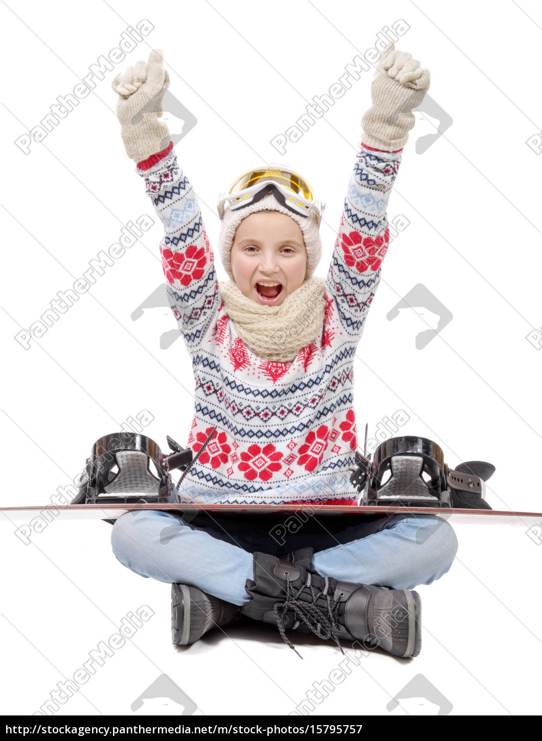 happy, teenager, sitting, arms, in, the - 15795757