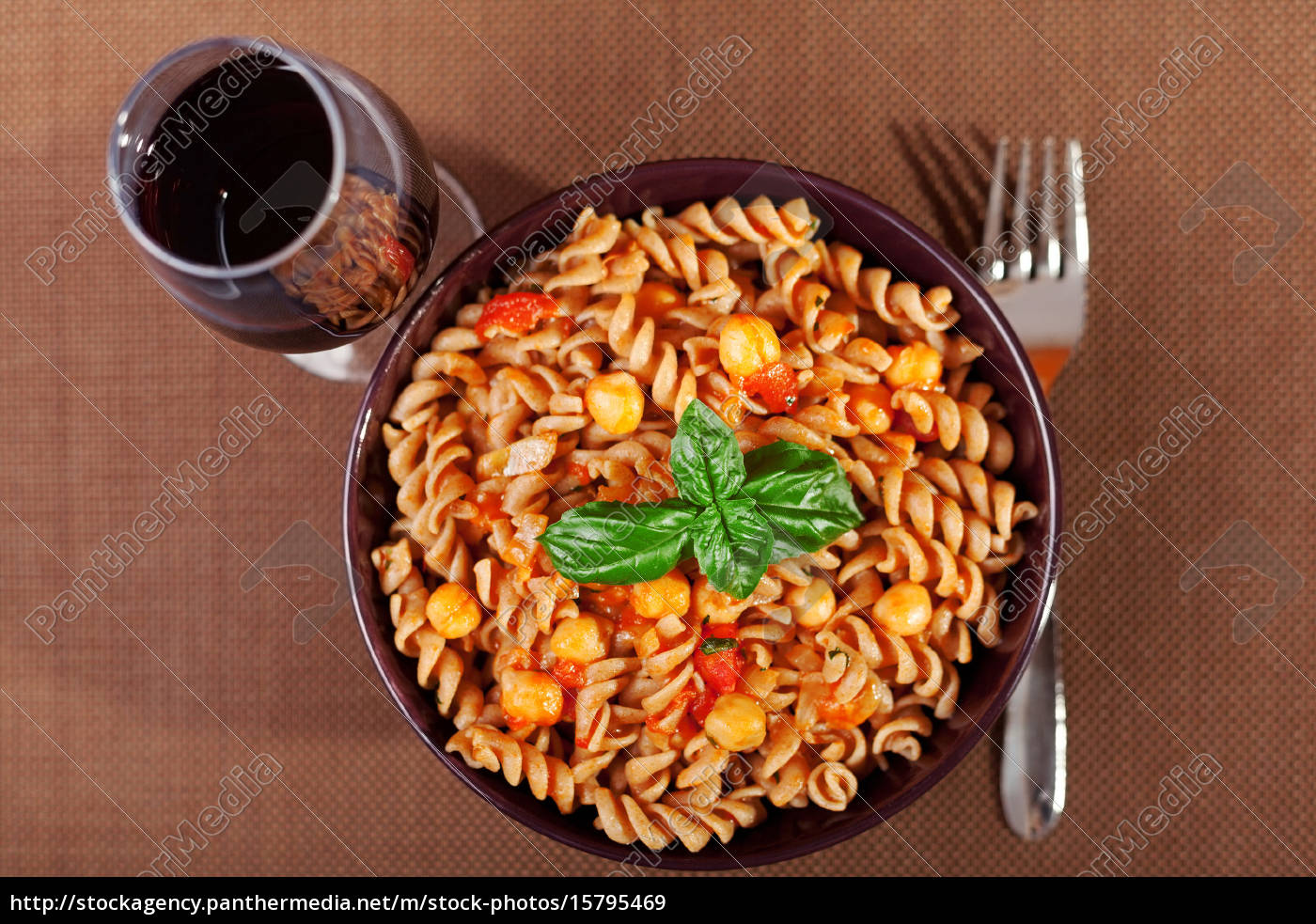 pasta, collection, -, fusilli, with, chick-peas, pasta - 15795469