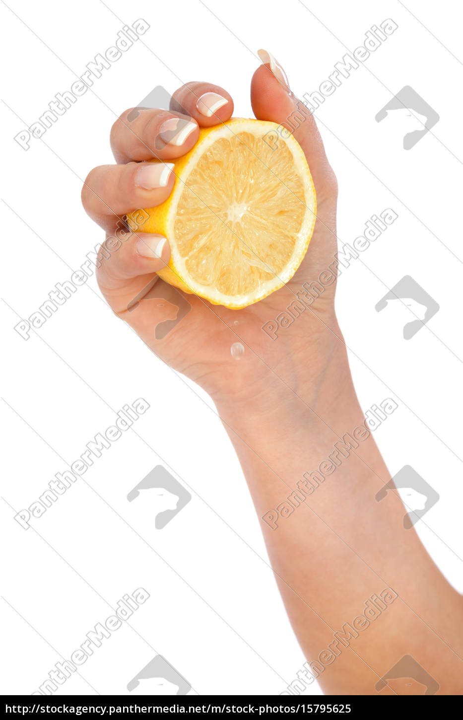 young, woman, squeezing, lemon, young, woman, squeezing - 15795625