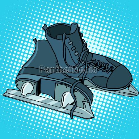 men skates winter sports