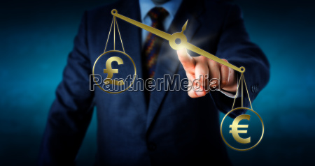 euro outbalancing the british pound sterling