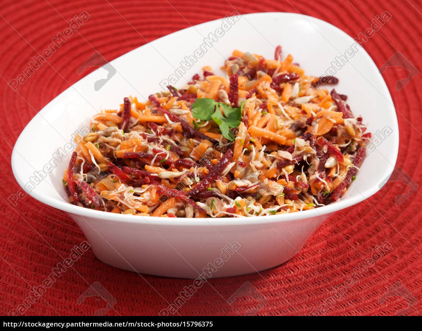 carrot, , beetroot, , tuna, fish, salad, carrot, , beetroot, - 15796375